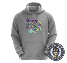 Load image into Gallery viewer, Humans Aren't Real Funny Unicorn Statement Hoodies Hoodie Hoody Jumper Pullover Mens Ladies Kids Unisex 1219