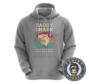 Daddy Shark Vintage Hoodies Hoodie Hoody Jumper Pullover Mens Ladies Kids Unisex 0282
