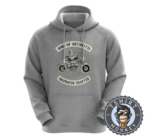 Ibuprofen Chapter Biker Skeleton Hoodies Hoodie Hoody Jumper Pullover Mens Ladies Kids Unisex 0013