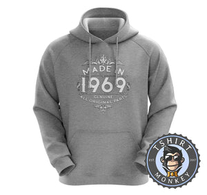 1969 Made In Highest Quality Graphic Illustration Hoodies Hoodie Hoody Jumper Pullover Mens Ladies Kids Unisex 1170