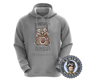 Powered by Caffeine Hoodies Hoodie Hoody Jumper Pullover Mens Ladies Kids Unisex 2975