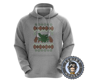 Godzilla Ugly Sweater Christmas Hoodies Hoodie Hoody Jumper Pullover Mens Ladies Kids Unisex 2897