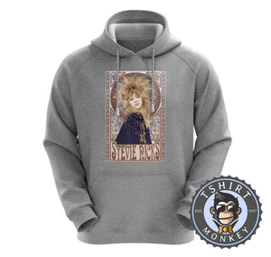 Mucha Art Stevie Nicks Inspired Graphic Illustration Halftone Hoodies Hoodie Hoody Jumper Pullover Mens Ladies Kids Unisex 1121