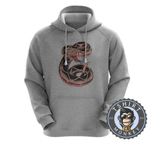 Load image into Gallery viewer, Snake Tattoo Inspired Hoodies Hoodie Hoody Jumper Pullover Mens Ladies Kids Unisex 0241