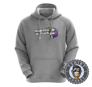 Majestic As Fuck Unicorn Inspired Graphic Hoodies Hoodie Hoody Jumper Pullover Mens Ladies Kids Unisex 1214