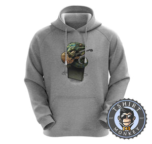 Chameleon Plays the Guitar Hoodies Hoodie Hoody Jumper Pullover Mens Ladies Kids Unisex 0069