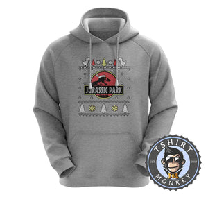 Jurassic Park Inspired Ugly Sweater Christmas Hoodies Hoodie Hoody Jumper Pullover Mens Ladies Kids Unisex 1643