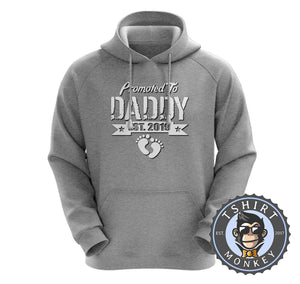 Promoted To Daddy Vintage Statement Hoodies Hoodie Hoody Jumper Pullover Mens Ladies Kids Unisex 1113