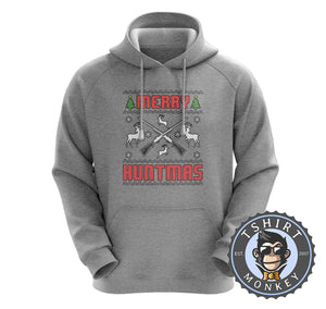 Merry Huntmas Colored Ugly Sweater Christmas Hoodies Hoodie Hoody Jumper Pullover Mens Ladies Kids Unisex 1650