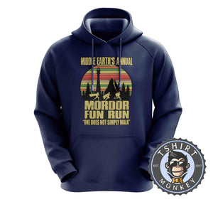 Annual Mordor Fun Run Movie Inspired Funny Vintage Hoodies Hoodie Hoody Jumper Pullover Mens Ladies Kids Unisex 1100