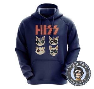 Hiss - Kiss Inspired Meme Funny Cat Hoodies Hoodie Hoody Jumper Pullover Mens Ladies Kids Unisex 1089