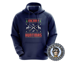 Load image into Gallery viewer, Merry Huntmas Colored Ugly Sweater Christmas Hoodies Hoodie Hoody Jumper Pullover Mens Ladies Kids Unisex 1650