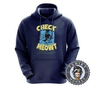 Check Meowt Funny Police Cat Graphic Hoodies Hoodie Hoody Jumper Pullover Mens Ladies Kids Unisex 1063