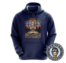Load image into Gallery viewer, Mostly Love and Light Funny Namaste Vintage Hoodies Hoodie Hoody Jumper Pullover Mens Ladies Kids Unisex 1109