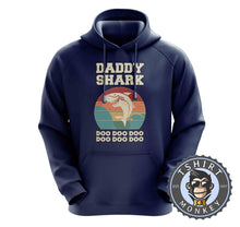 Load image into Gallery viewer, Daddy Shark Vintage Hoodies Hoodie Hoody Jumper Pullover Mens Ladies Kids Unisex 0282