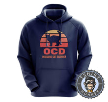 Load image into Gallery viewer, OCD - Obsessive Cat Disorder Cat Lover Funny Vintage Hoodies Hoodie Hoody Jumper Pullover Mens Ladies Kids Unisex 1081