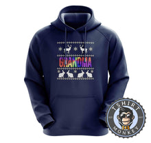 Load image into Gallery viewer, Grandma Rainbow Ugly Sweater Chistmas Hoodies Hoodie Hoody Jumper Pullover Mens Ladies Kids Unisex 1634