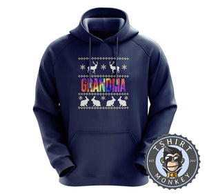 Grandma Rainbow Ugly Sweater Chistmas Hoodies Hoodie Hoody Jumper Pullover Mens Ladies Kids Unisex 1634