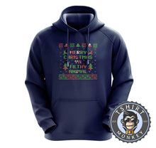 Load image into Gallery viewer, Ya Filthy Animal Ugly Sweater Christmas Hoodies Hoodie Hoody Jumper Pullover Mens Ladies Kids Unisex 2872