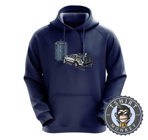 Battle of Time Machine - DeLoeran Meets Tardis Movie Inspired Hoodies Hoodie Hoody Jumper Pullover Mens Ladies Kids Unisex 1274