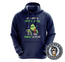 Load image into Gallery viewer, All I Need Is My Dog And My Coffee Hoodies Hoodie Hoody Jumper Pullover Mens Ladies Kids Unisex 2970