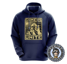 Load image into Gallery viewer, Gamers Unite - Vintage Gaming Graphic Hoodies Hoodie Hoody Jumper Pullover Mens Ladies Kids Unisex 1210