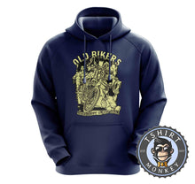 Load image into Gallery viewer, Old Bikers Never Happy Unless Riding Vintage Hoodies Hoodie Hoody Jumper Pullover Mens Ladies Kids Unisex 1247