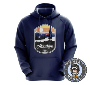 Hawkins - Stranger Things Inspired Vintage Graphic Hoodies Hoodie Hoody Jumper Pullover Mens Ladies Kids Unisex 1212