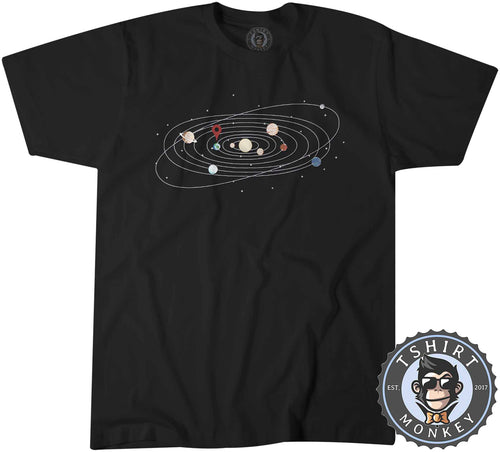The Solar System Vintage Illustration Science Tshirt Shirt Mens Unisex 2842