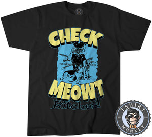 Check Meowt Funny Police Cat Graphic Tshirt Kids Youth Children 1063