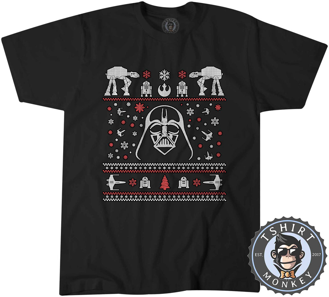 Darthtmas Ugly Sweater Christmas Tshirt Kids Youth Children 1667