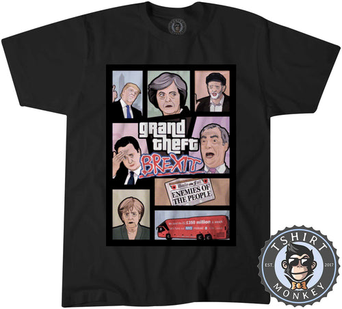 Grand Theft BREXIT Halftone Game Inspired Tshirt Kids Youth Children 1010