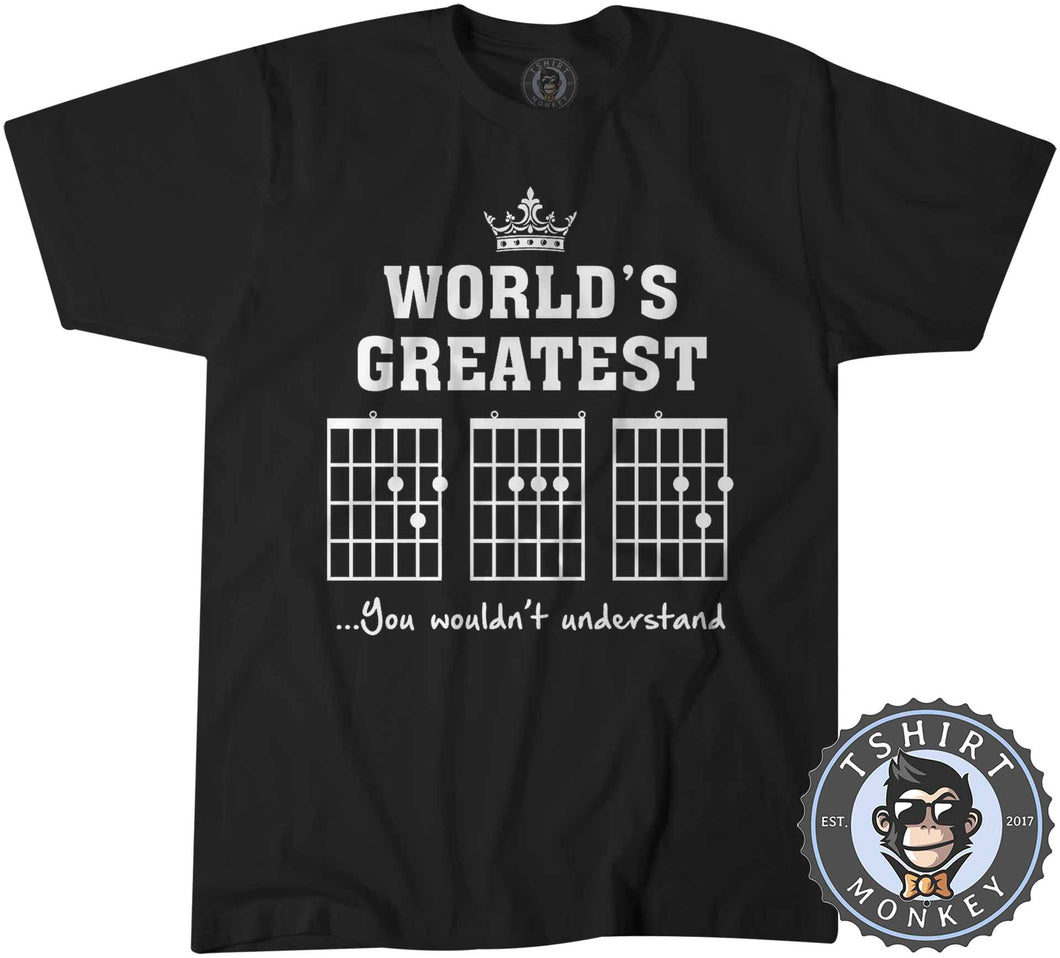 World's Greatest Dad | Guitar Chords Tshirt Kids Youth Children 0078