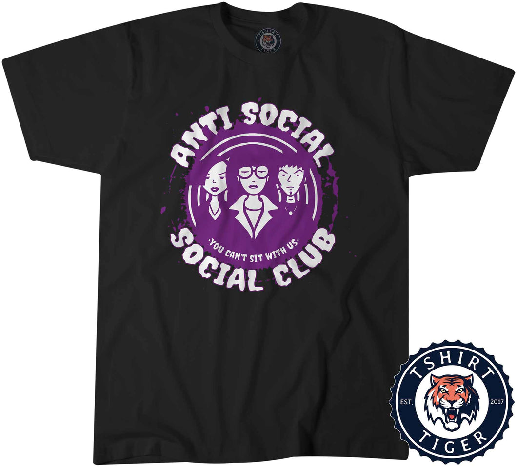 Anti Social Club Funny Statement Tshirt Lady Fit Ladies 3198