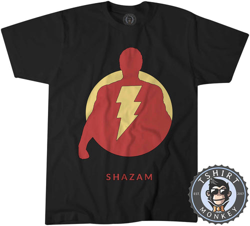 Vintage Shazam Silhouette V1 Movie Inspired Tshirt Shirt Kids Youth Children 2342