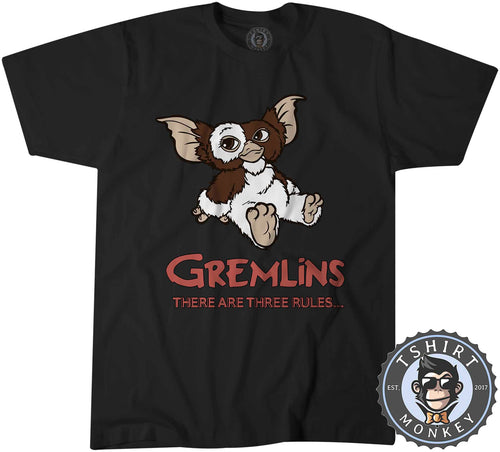 Gremlins - There Are Three Rules Movie Tshirt Shirt Kids Youth Children 2374