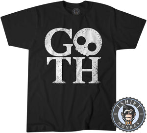GOTH V1 Skull Inspired Graphic Illustration Tshirt Mens Unisex 1192