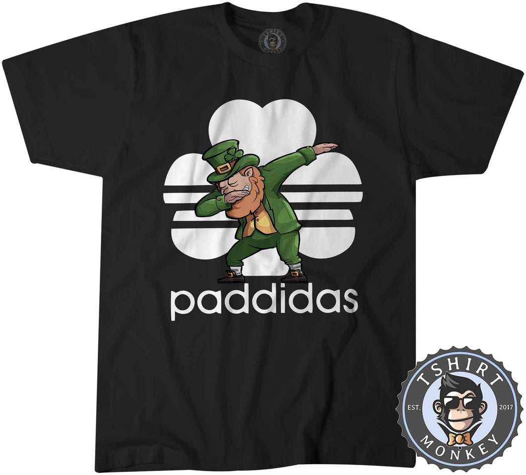 Paddidas Dabbing Leprechaun Irish Tshirt Kids Youth Children 0164