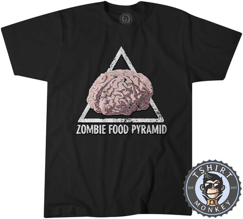 Zombie Food Pyramid Cool Vintage Monster Halloween Tshirt Shirt Mens Unisex 2701