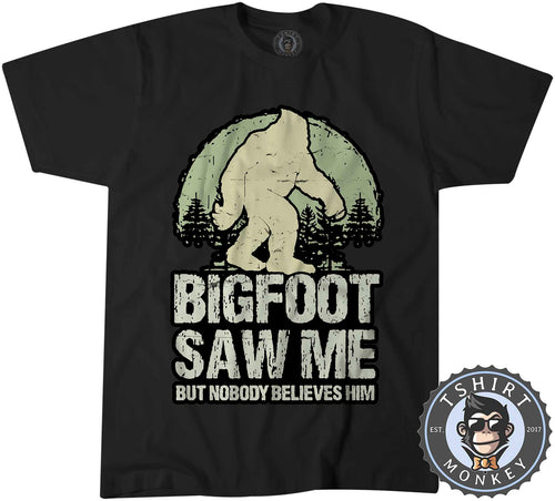 Big Foot Saw Me Funny Vintage Tshirt Shirt Mens Unisex 1606