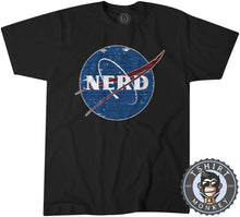 Load image into Gallery viewer, Glitchy Pixelated NERD NASA Inspired Meme Funny Tshirt Kids Youth Children 1061