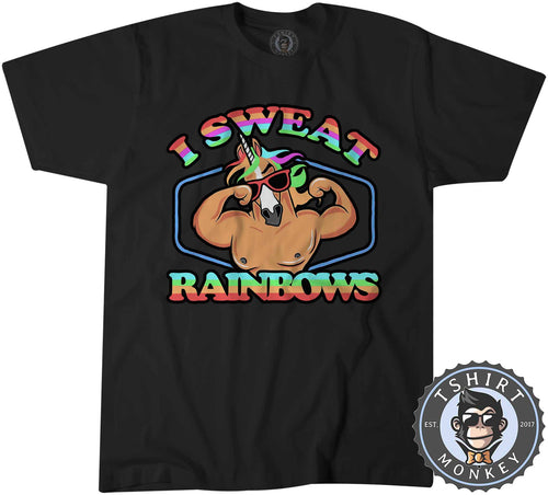 I Sweat Rainbows Funny Unicorn Graphic Tshirt Shirt Mens Unisex 1576