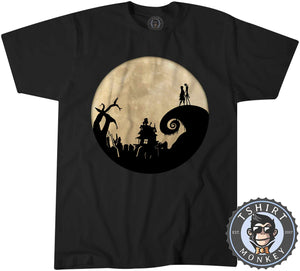 Jack And Sally - Christmas Halloween Movie Inspired Tshirt Kids Youth Children 1058