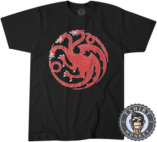 Three Headed Dragon Vintage Monster Tshirt Shirt Mens Unisex 2022
