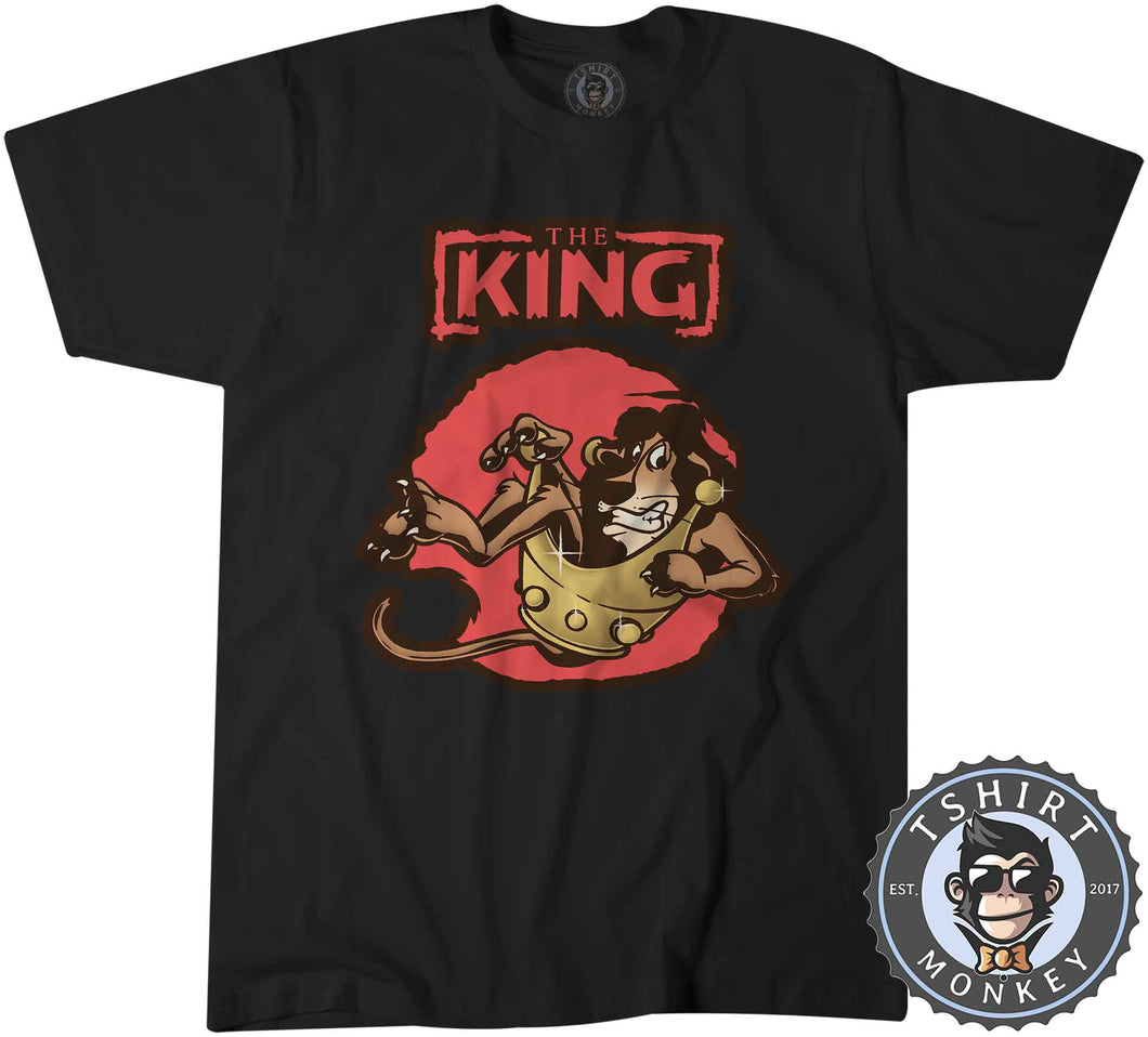 The King - Lion Inspired Animal Print Graphic Cartoon Tshirt Mens Unisex 1258