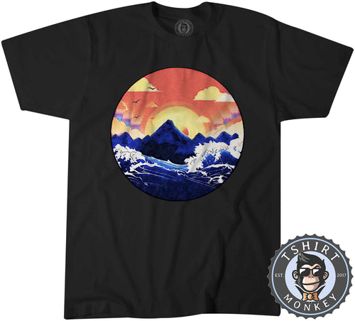Great Music Mountain Wave Vintage Summer Graphic Tshirt Shirt Mens Unisex 2790
