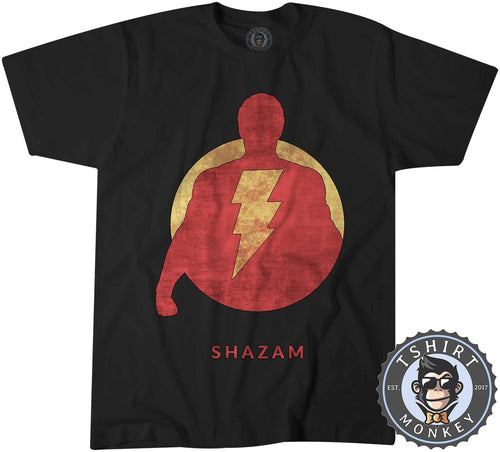 Vintage Shazam Silhouette V2 Movie Inspired Tshirt Shirt Kids Youth Children 2343