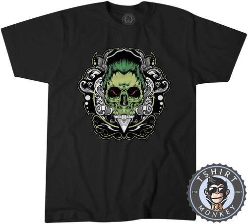Zombie Skull Unique Supernatural Graphic Illustration Tshirt Shirt Mens Unisex 1834