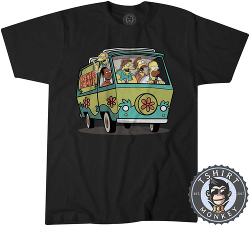 Funny Brewery Machine The Simpsons Beer Drinking Cartoon Tshirt Mens Unisex 1461