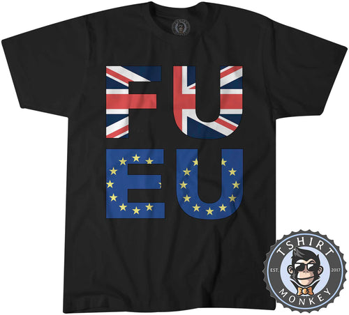 FU EU - Graphic Illustration Statement Tshirt Kids Youth Children 0929